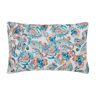 Linen and cotton percale pillowcase with digital print