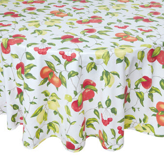 Cotton table cloth with fruit
