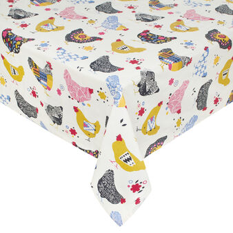 Gipsy Hen 100% cotton tablecloth with print