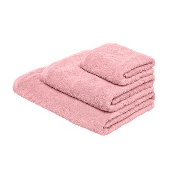 Asciugamano in puro cotone jacquard a rilievo
