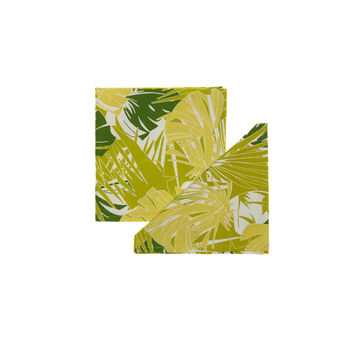 Set of four jungle print napkins
