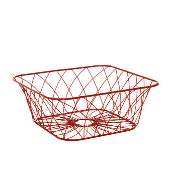 Red iron basket