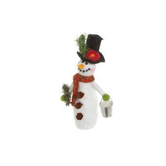 Snowman in boiled wool, H 22 cm