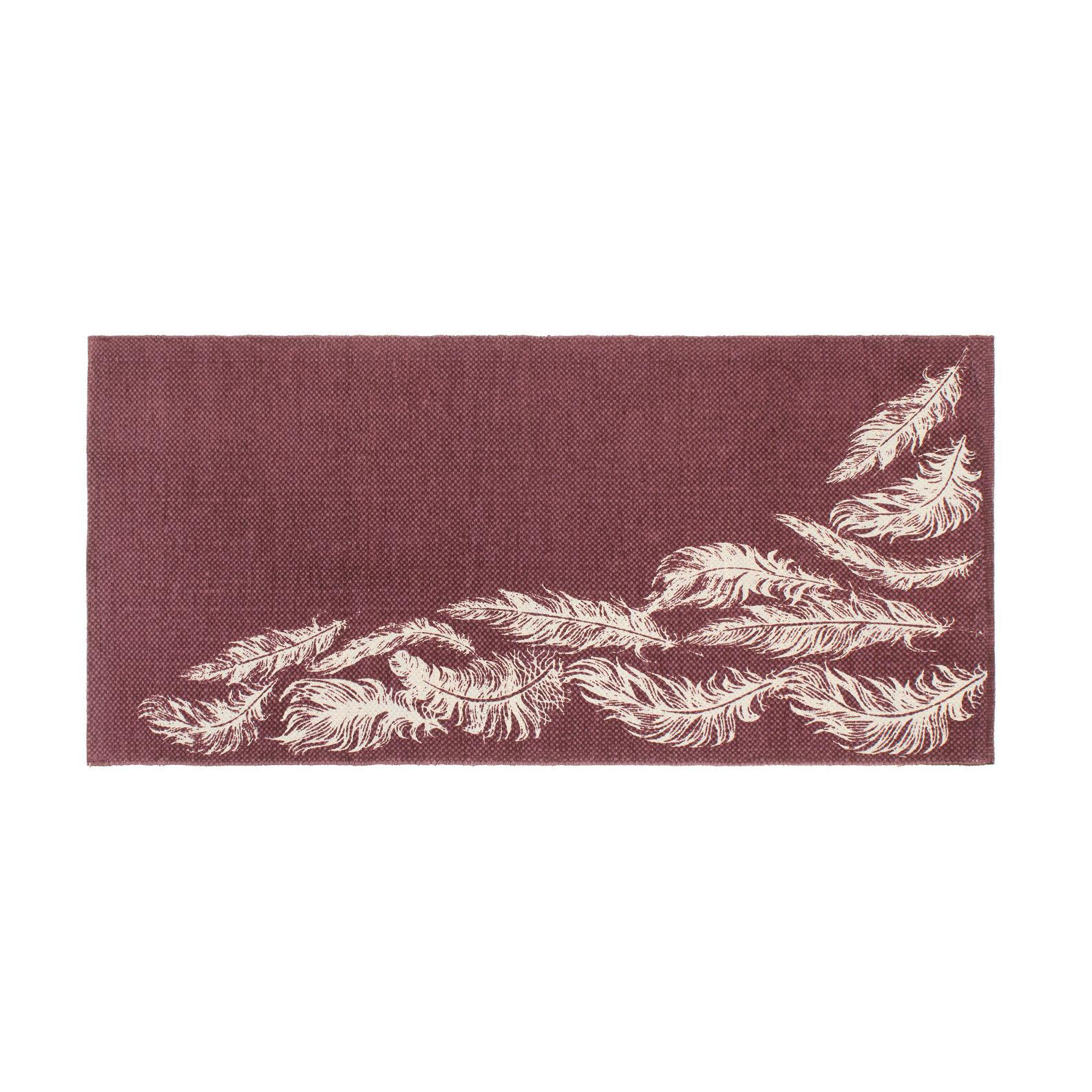 Tappeto bagno con stampa piume - coincasa