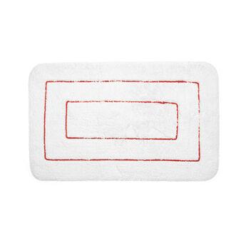 Tappeto bagno cotone motivo rettangoli