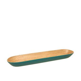 Oval bamboo tray