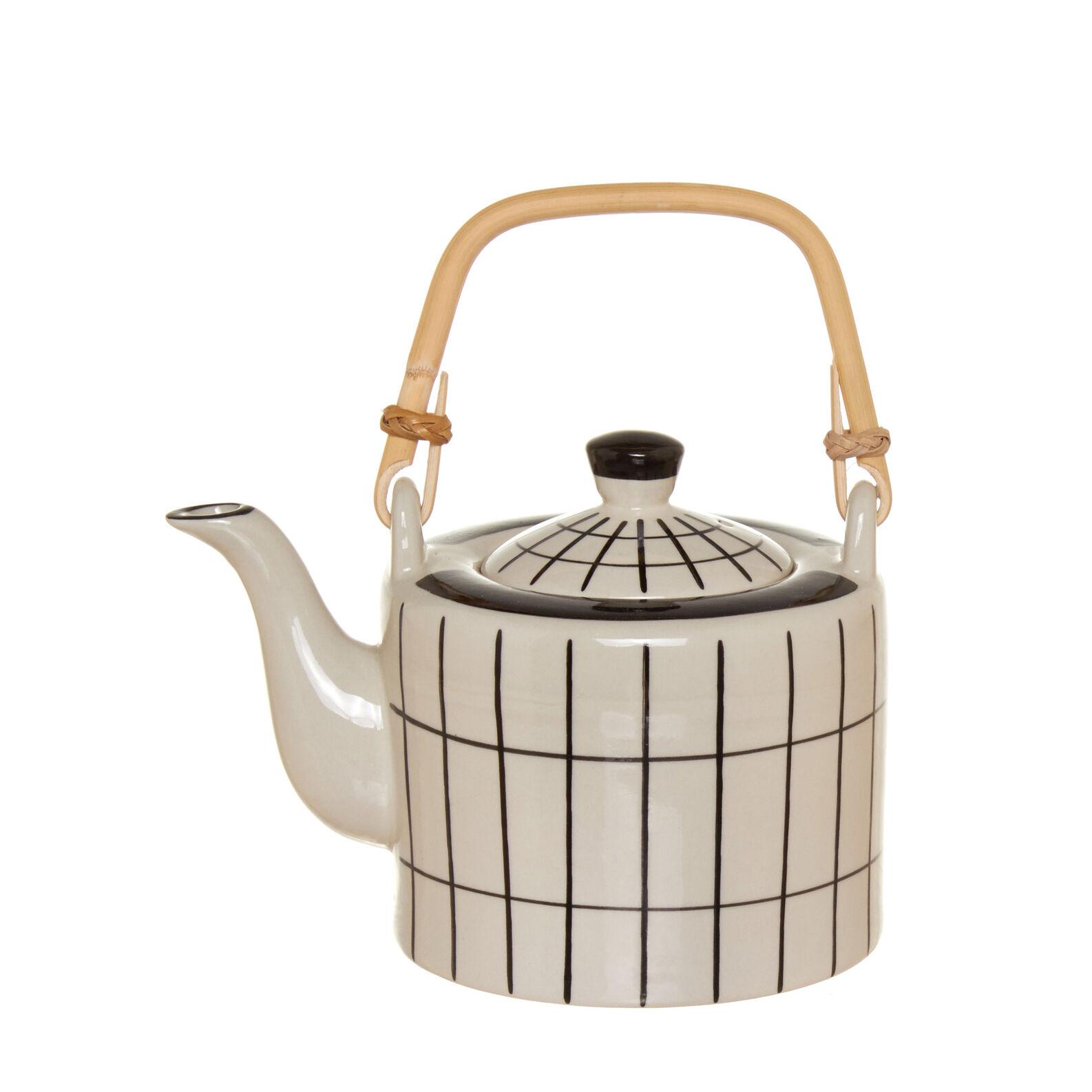 Ceramic teapot with bamboo handle coincasa - Bamboo teapot handles ...