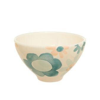 Watercolour-effect ceramic salad bowl