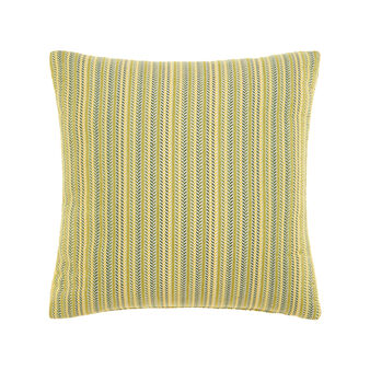 Jacquard cushion with striped pattern