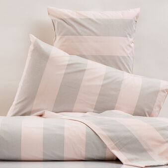 100% cotton bed linen set with wide striped pattern