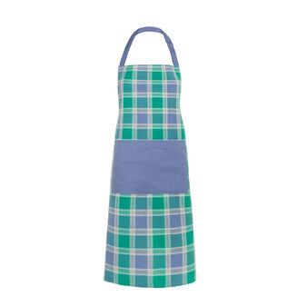 Yarn-dyed check bib apron