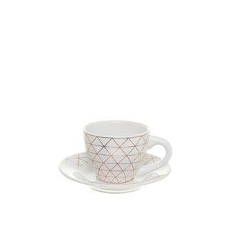 Tazza da tè in ceramica con decoro geometrico
