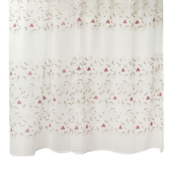 Curtain with floral embroidery