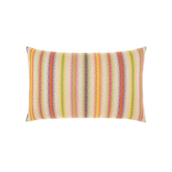 Cotton and viscose cushion with jacquard stripes
