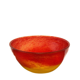 Two-tone coloured glass bowl