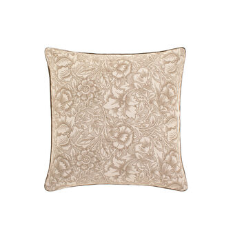 Cotton cushion with flower pattern