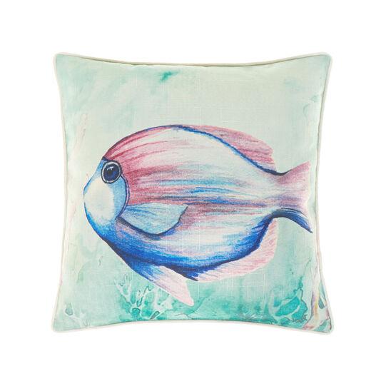 Cushion with fish print