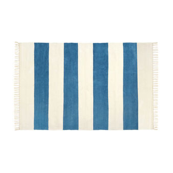 Striped chenille rug