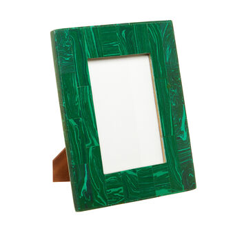 Hand-made malachite-effect bone photo frame
