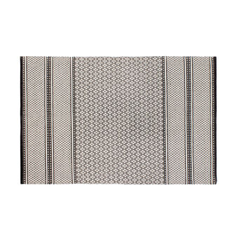 100% cotton rug with geometric pattern