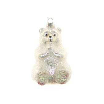 Decorazione natalizia vetro orsetto polare H 9cm