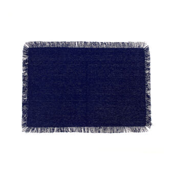 100% viscose table mat with fringed trim