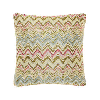 Jacquard cushion with zigzag pattern
