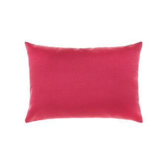 Grosgrain and linen cushion
