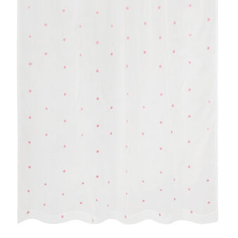 Voile curtain with pink stars