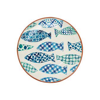 Piatto da portata ceramica portoghese pesci