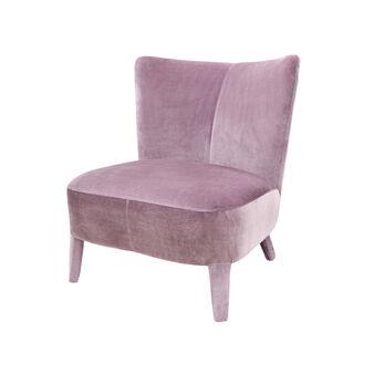 Clotilde velvet armchair