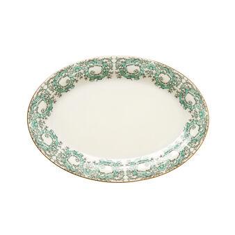 Oval new bone china plate