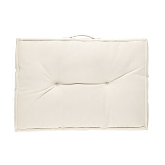 100% cotton rectangular mattress cushion with handle