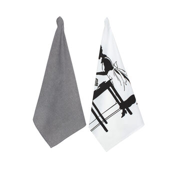 2-pack tea towels in 100% cotton