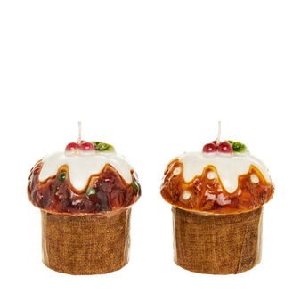Assorted mini candle panettone with holly