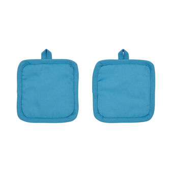 Set of 2 small pot holders in 100% cotton