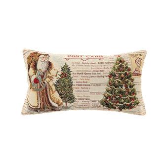 Gobelin cushion with Christmas card pattern