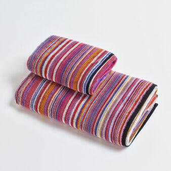 Asciugamano puro cotone velour fantasia millerighe