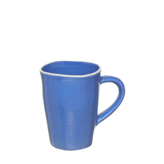 Coloured ceramic mug