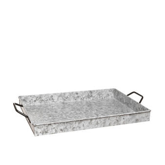 Tray with galvanized finish