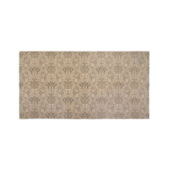 Cotton kitchen mat with damask print