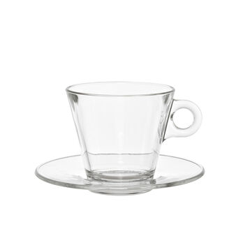 Cappuccino cup in smooth glass