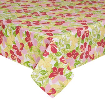 Cotton hibiscus table cloth