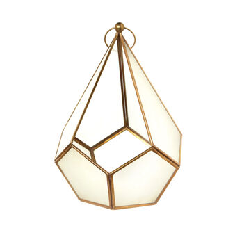 Prism lantern in glass and metal