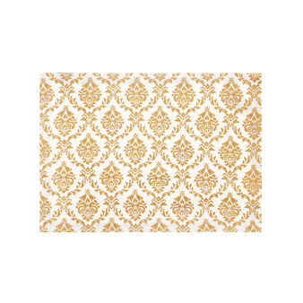 100% cotton table mat with Baroque print