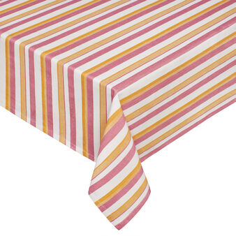100% cotton striped water-repellent tablecloth