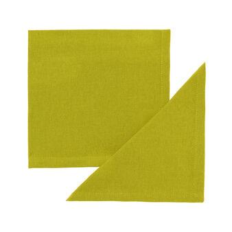 Set of 4 plain napkins in 100% cotton