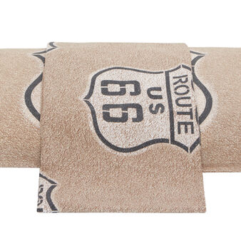 Route 66 cotton percale duvet cover