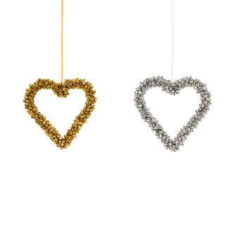 Assorted heart-shaped decoration with bells