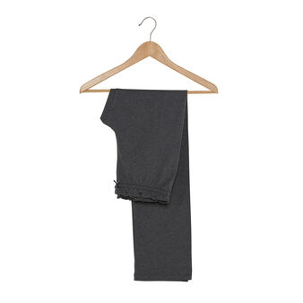Trousers with elastic waist band
